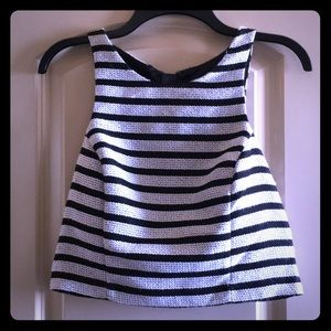 Black and White Stripe Croptop